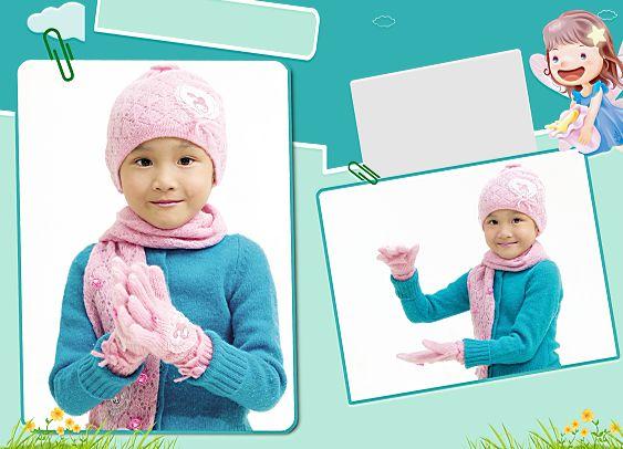 儿童模板psd素材漂亮宝贝系列影楼儿童相册模板下载3
