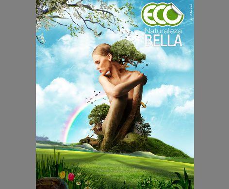 环保海报模板psd素材绿色春天主题环保海报模板素材