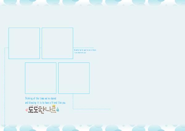 韩国儿童模板psd素材简洁风格韩国影楼儿童相