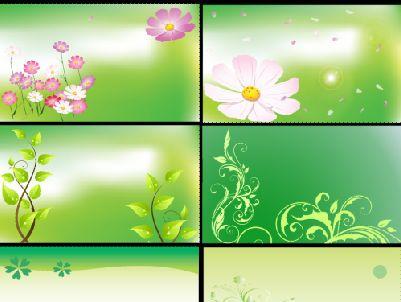 展板背景模板psd素材八个经典的矢量花朵展板背景模板