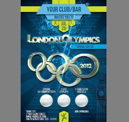 伦敦奥运会海报模板psd素材2012年伦敦奥运会宣传广告
