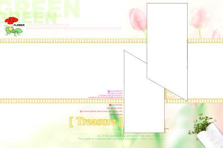 一组可爱的宽幅儿童相框模板素材之二电影胶片风格psd