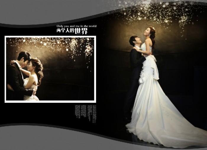 11月更新影楼婚纱相册模板韩式爱恋系列婚纱相册psd