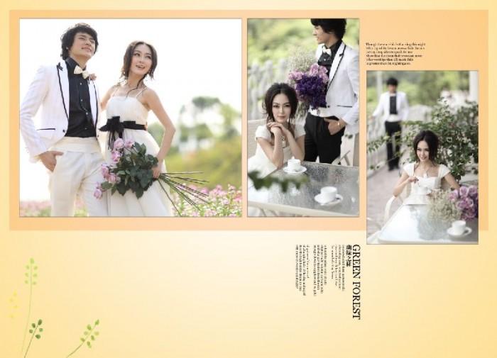 11月更新影楼婚纱相册模板韩式风格系列婚纱相册psd