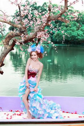 12月更新影楼婚纱相册样片桃花朵朵系列婚纱相册JPG样片免费下载三