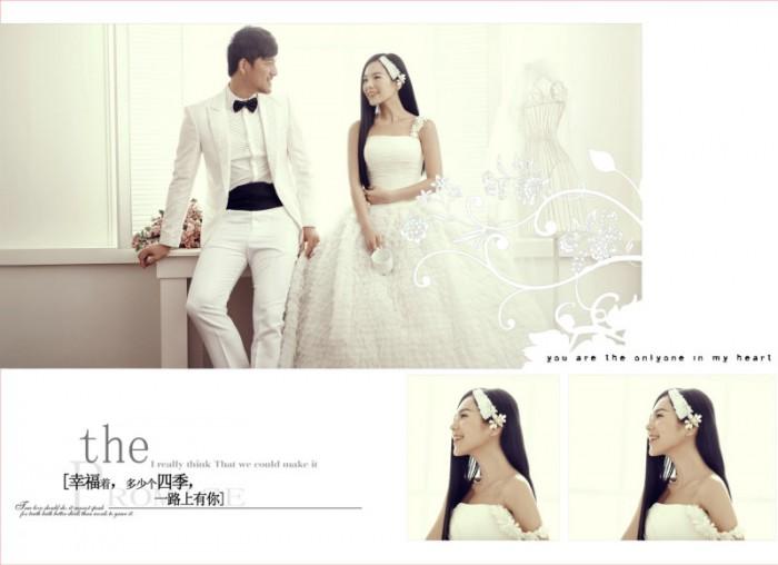12月更新影楼婚纱相册模板温柔幸福系列婚纱相册psd模板免费下载三(共