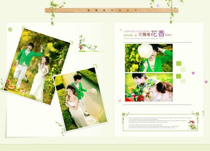 2013最新影樓韓式婚紗相冊模板花香系列婚紗相冊psd模板免費下載三(共圖片