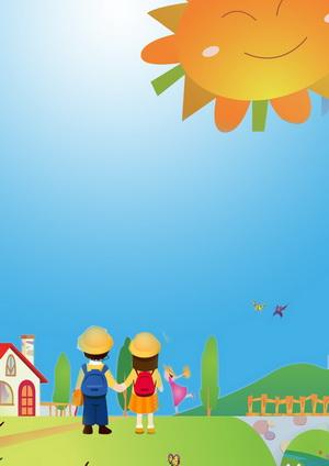 a4幅面高清幼儿园宝宝成长纪念册psd模板之我去上学校全套(共284p)