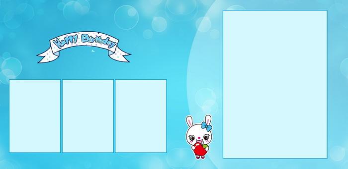 5月最新宽幅儿童模板{e001.欢乐童年}系列全套13p内页