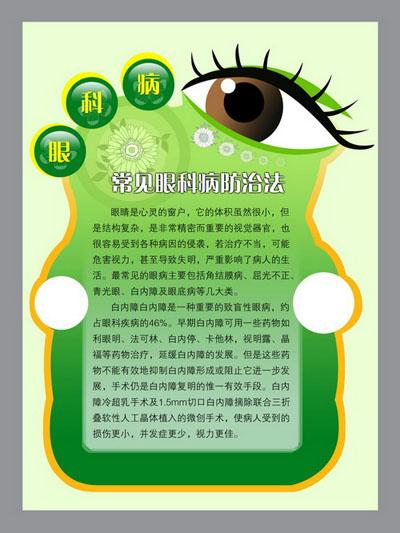 医学常识眼科病常见眼科疾病的防治方法介绍医院展板模板psd素材免费