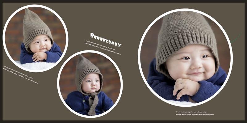 psd素材 影楼模板 儿童模板 >> 素材信息  4月最新宝宝相册模板{e226.