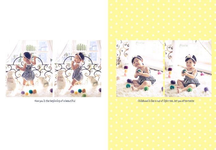 7月全家福相册模板 E238.幸福之家 系列竖版7x10寸全套PSD素材免费