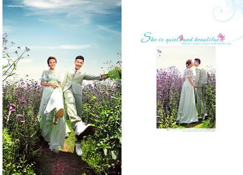 psd素材 影楼模板 婚纱模板 >> 素材信息  8月最新外景婚纱模板{h359.