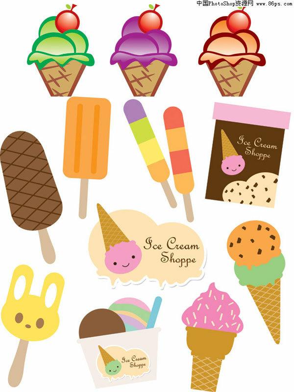 铅笔手绘冰淇淋