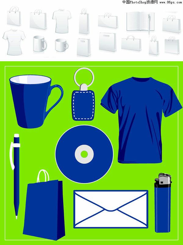 eps格式空白vi设计与常用物品矢量素材免费下载