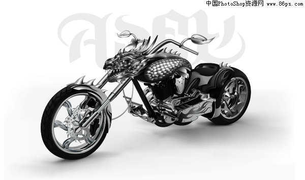 AI风格素材格式超酷漫画漫画摩托车龙头矢量免死亡金属节食恐怖图片