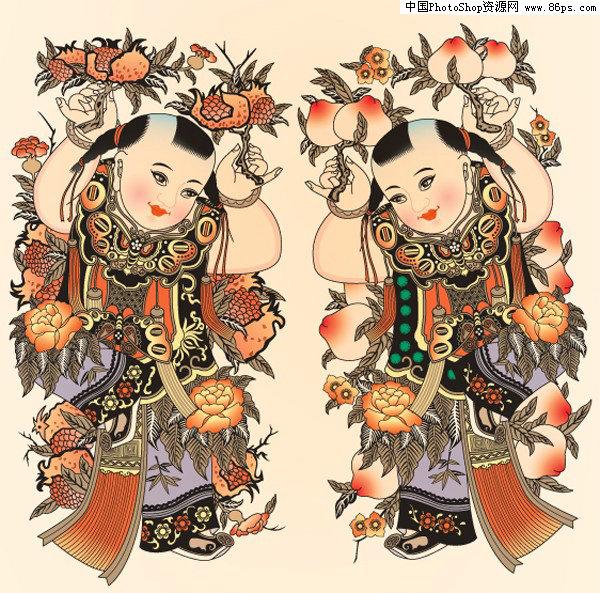 ai格式身着日本传统和服的女性. ai格式充满中国古典特色的仙鹤.