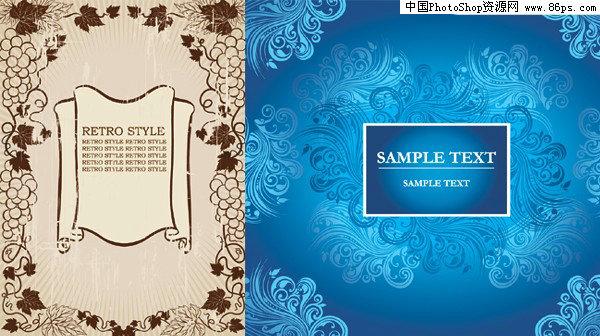 eps格式2款精美欧式花边矢量素材免费下载