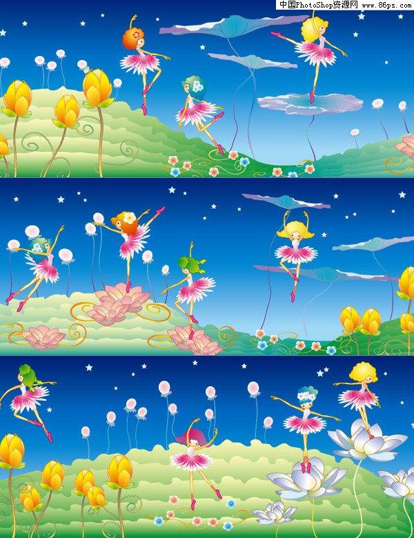 ai格式韩国可爱卡通花仙子矢量素材免费下载