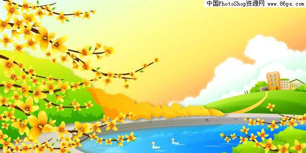 【文件大小:305 KB 更新时间: 2010-09-22软件类别:ai素材 软件语言:简体中文】 AI格式迎春花开户外风光矢量素材免费下载  AI格式,含JPG预览图,关键字:矢量风景,春天,风光,田园风光,池塘,鸭子,迎春花,建筑,树木,矢量素材...  Twinsen  AI后缀的文件是指通过Adobe Illustrator(简称AI)软件储存得到的图片格式 这种格式的图片是矢量的,也就是说像freehand,Coreldraw那样子的图片可以随意放大但不失真的那种   它和photoshop是同