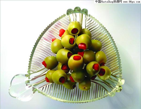 eps格式水果及水果边框矢量素材