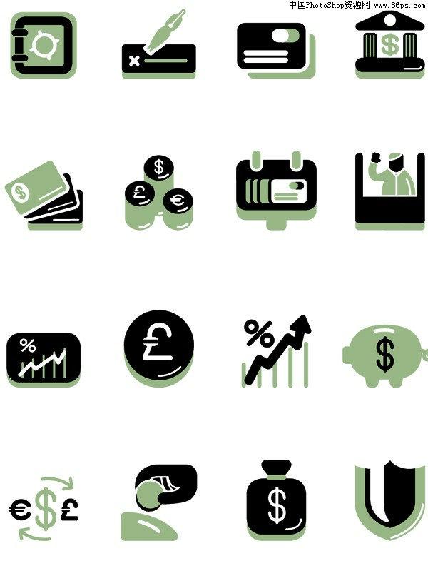 关键字:矢量图标,金融图标