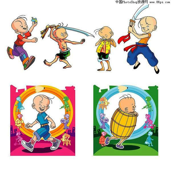 ai格式可爱卡通三毛人物矢量素材免费下载