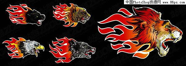 动物几何图形狮子