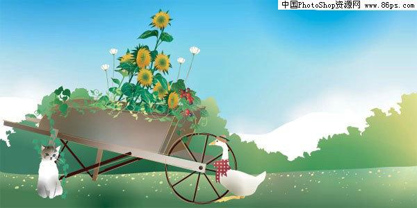 【文件大小:305 KB 更新时间: 2011-09-05软件类别:eps素材 软件语言:简体中文】 EPS格式郊外农家小院风景矢量素材免费下载  EPS格式,含JPG预览图,关键字:矢量风景,户外,郊外,绿色,草地,树林,小猫,鸭子,木架车,向日葵,花朵,矢量素材...  Twinsen EPS称为被封装的PostScript格式,它主要包含以下几个特征。   (1)EPS文件格式又被称为带有预视图象的PS格式,它是由一个PostScript语言的文本文件和一个(可选)低分辨率的由PICT或TIFF格式