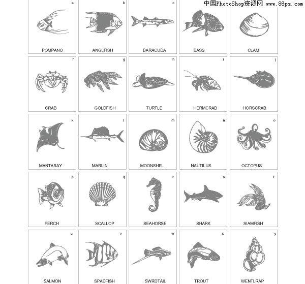 EPS格式素材海洋生物矢量天线免费下载[中国汽车黑白鲨鱼粘不紧图片