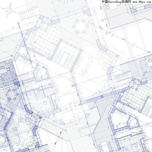 eps格式建筑平面图矢量素材免费下载