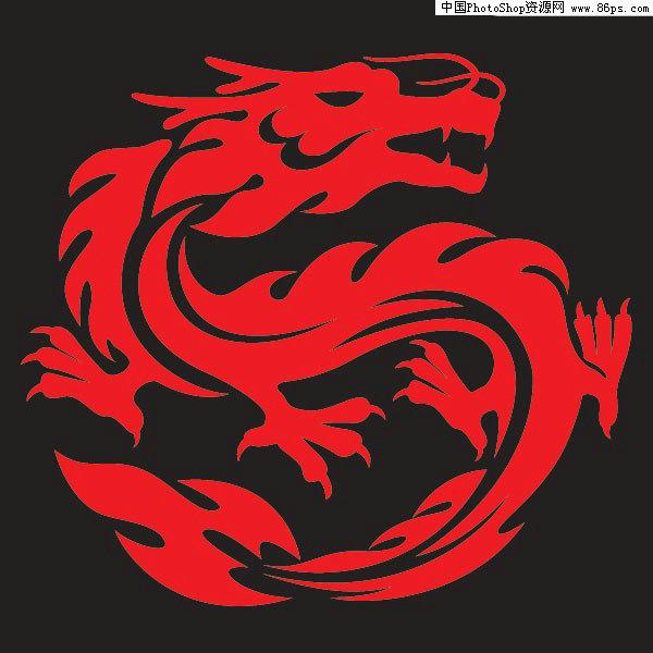 eps格式中国龙矢量素材免费下载