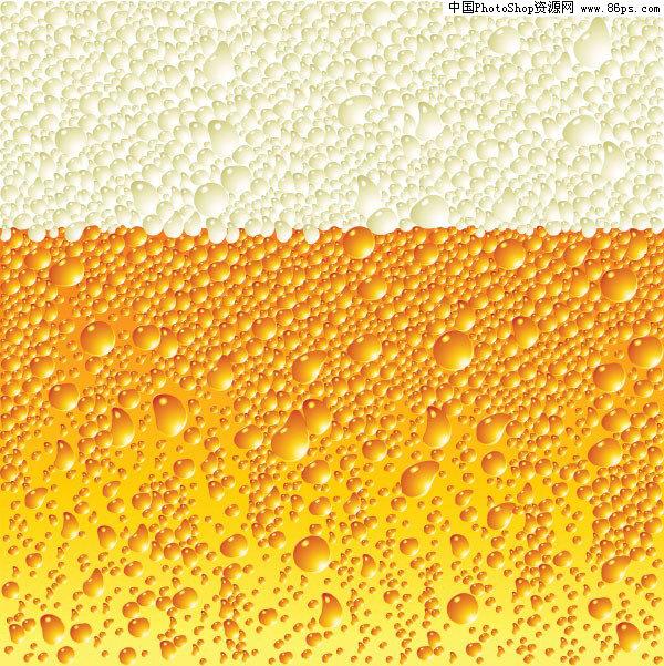 eps格式清凉的啤酒泡沫矢量素材免费下载