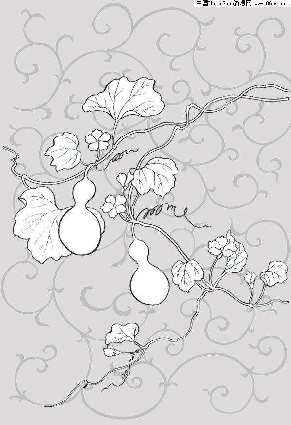 可爱小葫芦 手绘图