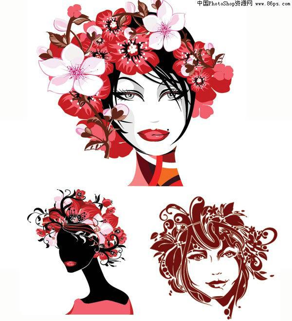 图形花朵剪纸步骤图