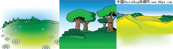 【文件大小:305 KB 更新时间: 2010-09-22软件类别:ai素材 软件语言:简体中文】 AI格式3款卡通户外风光矢量素材免费下载  AI格式,含JPG预览图,关键字:矢量风景,卡通,野外,郊外,草地,山坡,树木,野花,矢量素材...  Twinsen  AI后缀的文件是指通过Adobe Illustrator(简称AI)软件储存得到的图片格式 这种格式的图片是矢量的,也就是说像freehand,Coreldraw那样子的图片可以随意放大但不失真的那种   它和photoshop是同属Adobe
