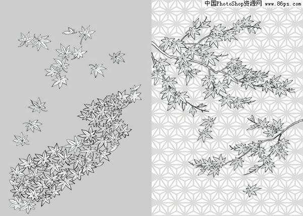 长方形枫叶折纸步骤图解