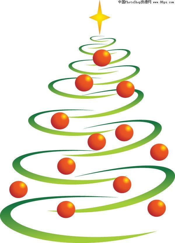 eps格式时尚圣诞树eps矢量素材免费下载