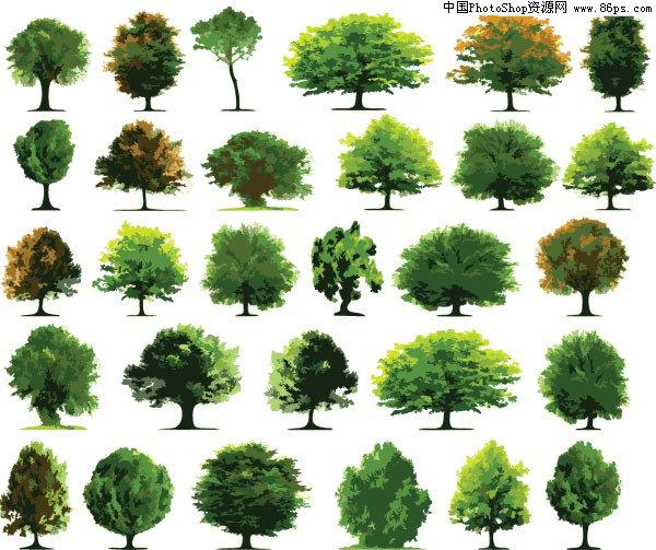 eps格式各种树木矢量素材大全免费下载