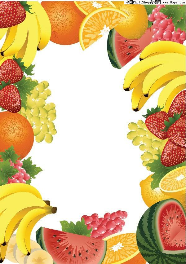 eps格式水果及水果边框矢量素材免费下载