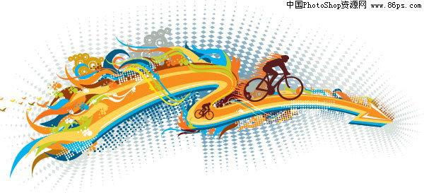 【文件大小:305 KB 更新时间: 2010-09-22软件类别:eps素材 软件语言:简体中文】 EPS格式一款动感十足的自行车运动主题矢量素材免费下载  EPS格式,含JPG预览图,关键字:体育运动,单车运动矢量素材,运动员,矢量放射网点,箭头,火焰,浪花,动感线条,人物剪影,矢量素材...  Twinsen EPS称为被封装的PostScript格式,它主要包含以下几个特征。   (1)EPS文件格式又被称为带有预视图象的PS格式,它是由一个PostScript语言的文本文件和一个(可选)低分辨率