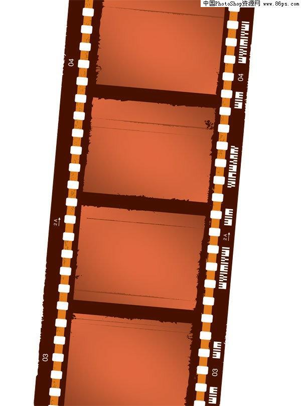 电影胶片边框ps素材