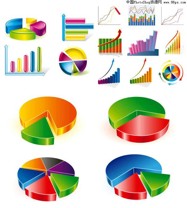 eps格式精美立体图表图标矢量素材免费下载图片