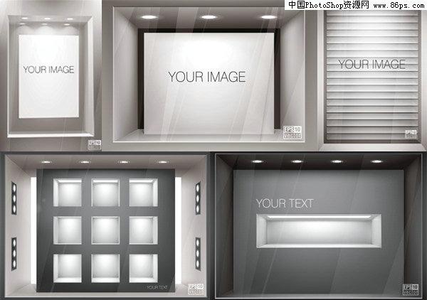 eps格式立体背景墙矢量素材免费下载