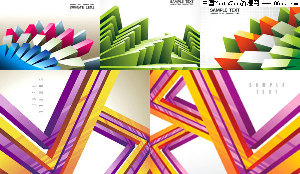 eps格式立体几何图案背景矢量素材免费下载