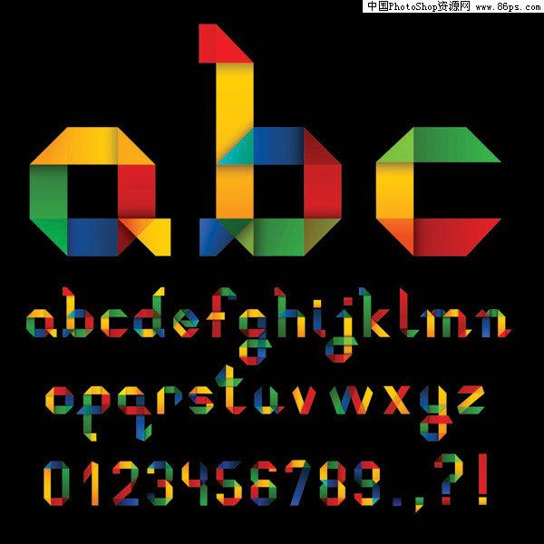 超可爱矢量英文字母. 矢量艺术字