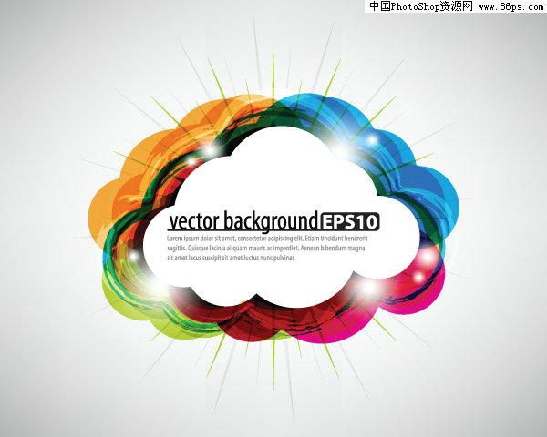含jpg预览图,关键字:矢量花边,边框,装饰边框,幻彩,眩光,闪光,云状,对