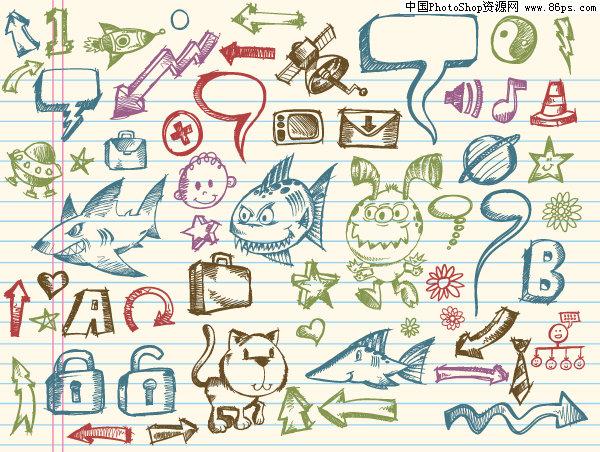 图标手绘素描步骤