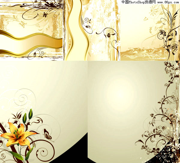 eps格式典雅壁纸花纹矢量素材免费下载