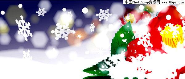 吸管粘贴画圣诞老人